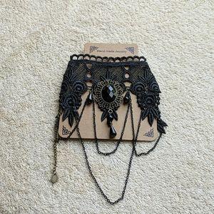NWT black lace choker